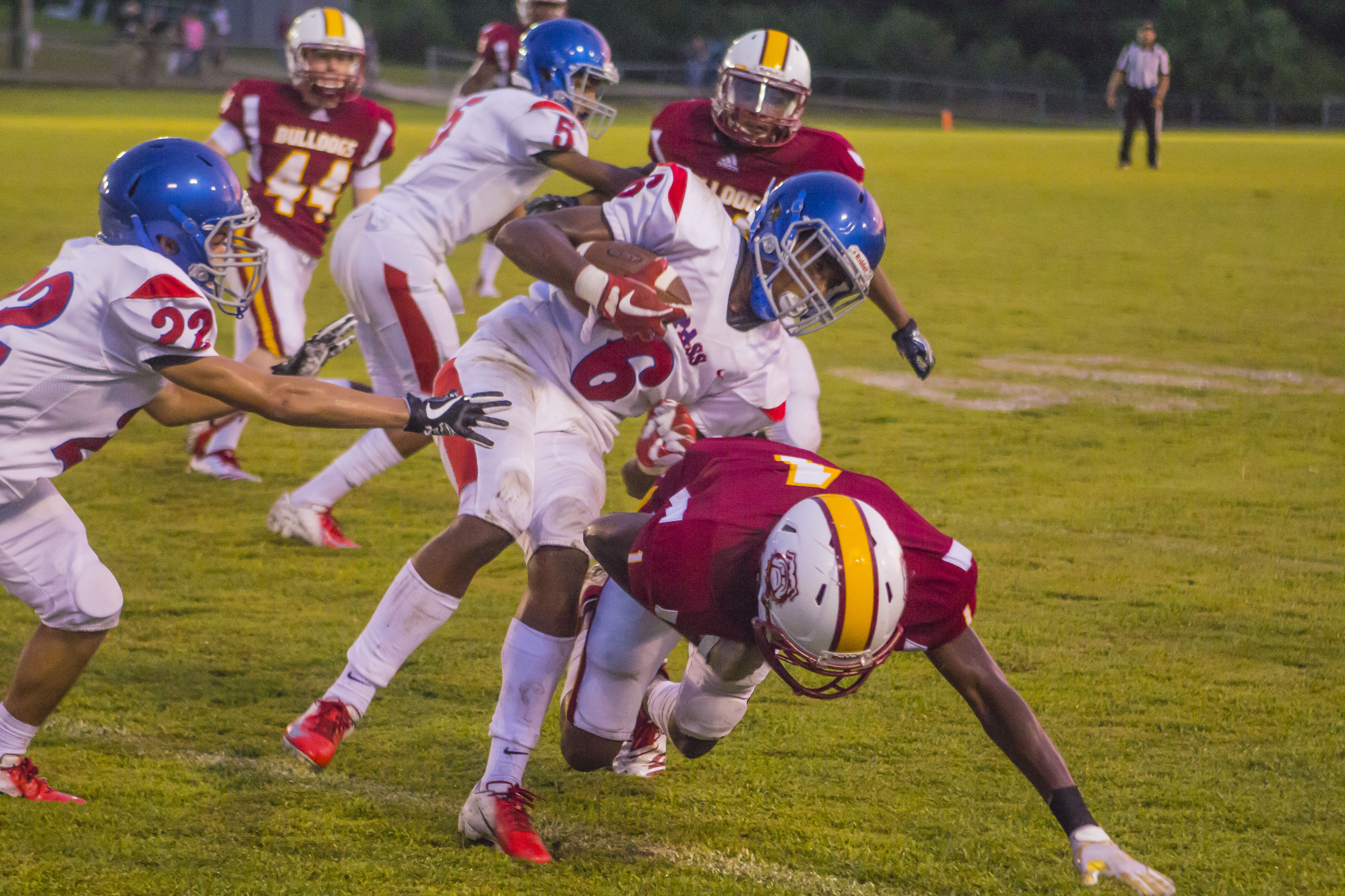 PIRATES DISMANTLED BY BULLDOGS AGAIN