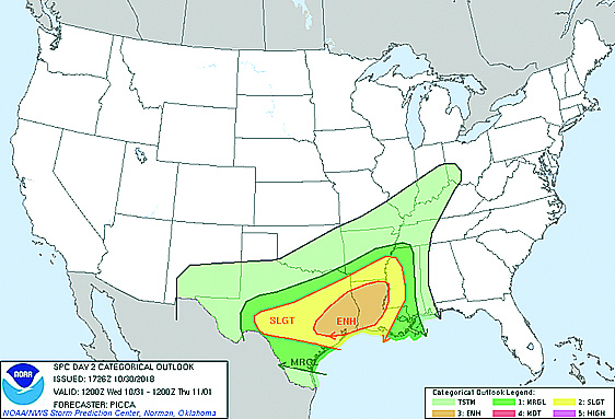 SEVERE WEATHER THREAT FOR HALLOWEEN NIGHT