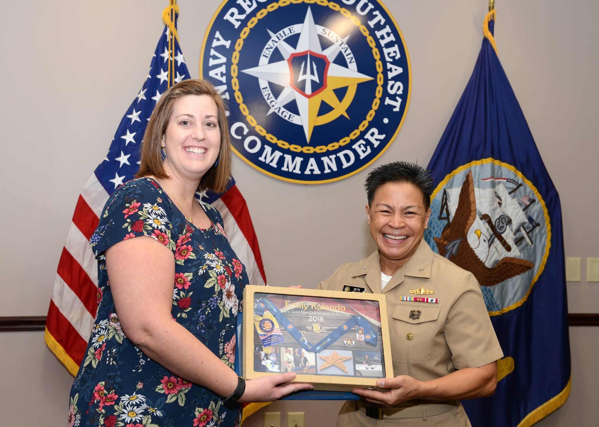Kolenda named 2018 Navy Gold Star Coordinator of the Year