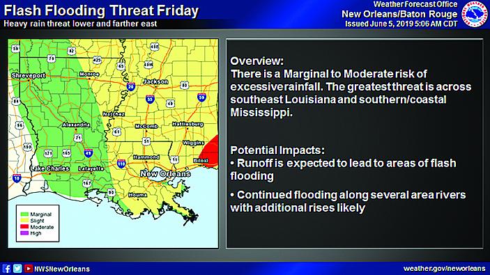 Flash Flood Watch & Heavy Rain Potential Today through Friday