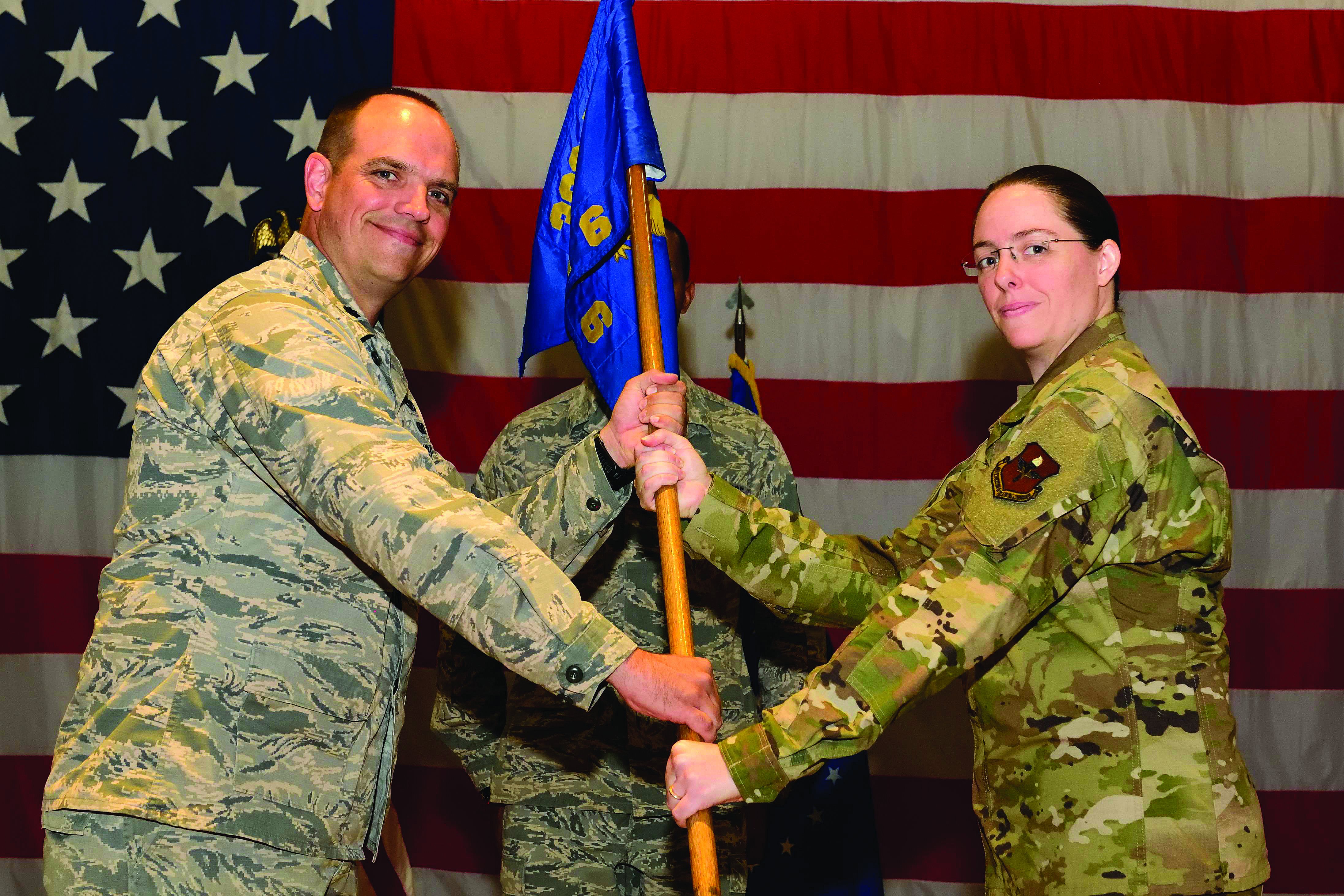 Major Hess Receives Air Force Change of Command