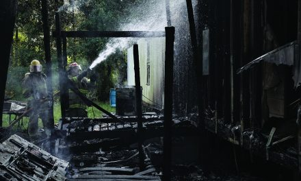 Suspicious Fire at Mobile Home on Pineville Road
