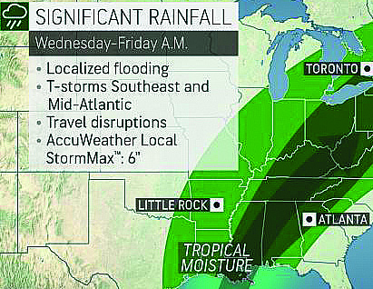Halloween Storm Drenches Areas Across South Mississippi