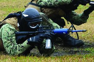 Sailors Learn Basic Combat Skills at Gulfport Navy Base
