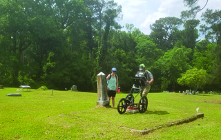 USM Conducts Examination of Historic Cemetery