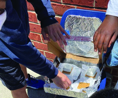 PCES Third Grade Students Build and Test Solar Ovens