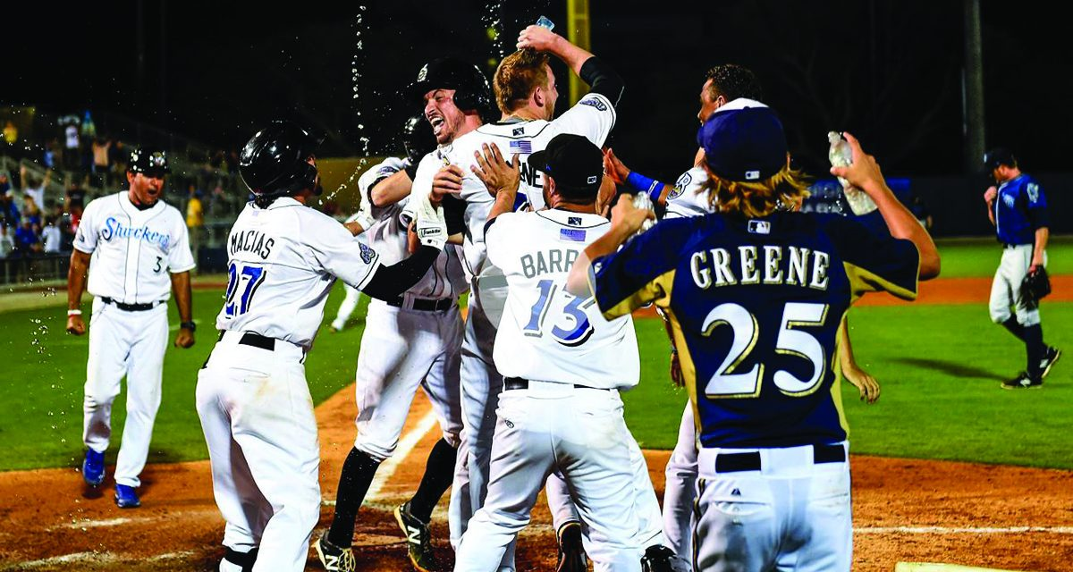 Guerrero Picks Up 1300th Win in Shuckers Victory